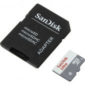 Карта памяти SanDisk Ultra microSD UHS-I 80MB/s with Adapter